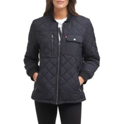 Diamond Quilted Oversize Jacket - Black - Levi's Jackets found on Bargain Bro Philippines from lyst.com for $78.00