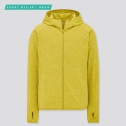 UNIQLO Men's Dry-Ex Uv Protection Full-Zip Hoodie, Green, M found on Bargain Bro India from Uniqlo for $29.90
