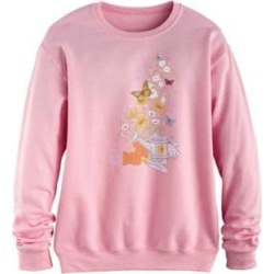 Women's Plus Graphic Sweatshirt, Soft Pink/Water Can XL found on Bargain Bro Philippines from Blair.com for $31.99