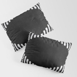 Diamond Stripe Geometric Block Print In Black And White King Size Pillow Sham by Becky Bailey - STANDARD SET OF 2 - Cotton found on Bargain Bro India from Society6 for $39.99