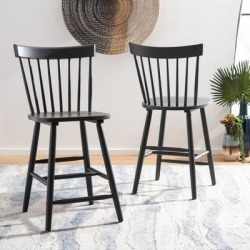 Safavieh Providence 24-inch Spindle Farmhouse Counter Stools (Set of 2) - 19.5