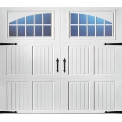 Classica 2000 Tuscany Garage Door - White 9 x 8 Seine found on Bargain Bro from samsclub.com for USD $1,215.24