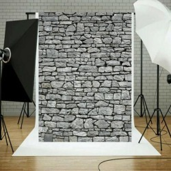 Photography Backdrop Studio Photo Prop 5' x 7' Stone Wall - 5' x 7' found on Bargain Bro Philippines from Overstock for $37.99