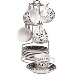 Gibson Espresso Expressions Coffee Set found on Bargain Bro from Overstock for USD $28.87