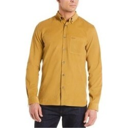 Lacoste Mens Corduroy Button Up Shirt, Brown, XL (US) (XL (US)), Men's found on MODAPINS from Overstock for USD $70.39