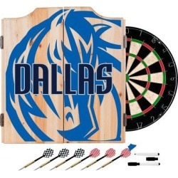 Trademark Global NBA Fade Dartboard & Cabinet Set in Brown/Gray/Green, Size 24.75 H x 20.5 W x 3.5 D in   Wayfair NBA7010-DM2 found on Bargain Bro Philippines from Wayfair for $139.95