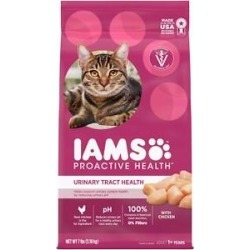 Iams ProActive Health Urinary Tract Health with Chicken Adult Dry Cat Food, 7-lb bag