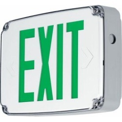 Progress Lighting Polycarbonate LED Exit SignPolycarbonate in Gray/White, Size 8.5 H x 12.5 W x 2.5 D in | Wayfair PEWLE-SG-30 found on Bargain Bro Philippines from Wayfair for $121.26
