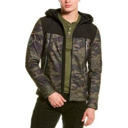 Superdry Softshell Camo Hybrid Jacket (3XL), Men's, Green(polyester) found on Bargain Bro India from Overstock for $60.49