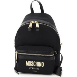 Logo Plaque Backpack - Black - Moschino Backpacks found on Bargain Bro from lyst.com for USD $256.12