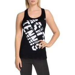 Asics Womens Tank Top Graphic Practice (Black/White - S), Women's, Multicolor(polyester) found on MODAPINS from Overstock for USD $12.03
