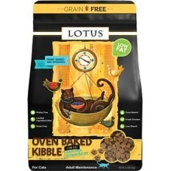 Lotus Low-Fat Chicken Grain-Free Recipe Dry Cat Food, 2.2-lb bag found on Bargain Bro India from Chewy.com for $13.29
