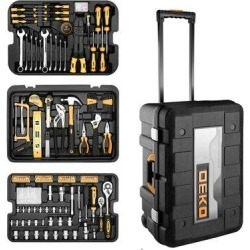 DEKOPRO 258 Piece Tool Kit w/ Rolling Tool Box Socket Wrench Hand Tool Set Mechanic Case Trolley Portable   Wayfair WF-DKMT258S-CC-2 found on Bargain Bro Philippines from Wayfair for $169.99