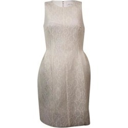 Calvin Klein Women's Sleeveless Lace Fit & Flare Dress (Cream - 4), Ivory found on Bargain Bro from Overstock for USD $15.16