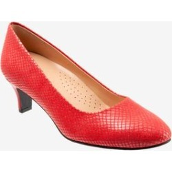 Women's Fab Pumps by Trotters in Red (Size 7 M) found on Bargain Bro India from Woman Within for $99.99