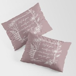 King Size Pillow Sham   Cast Your Anxiety Wildflower Frame Bible Verse by Move-mtns - STANDARD SET OF 2 - Cotton - Society6 found on Bargain Bro Philippines from Society6 for $39.99