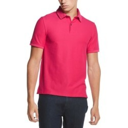petite DKNY Mens Shirt Bright Pink Size XL Classic Fit Pique Stacked Logo Polo (XL), Men's(cotton) found on Bargain Bro from Overstock for USD $20.50