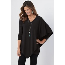 Women's Madeline Tunic Top by Soft Surroundings, in Black size XS (2-4)