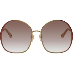 Gold & Red Irene Butterfly Sunglasses - Brown - Chloé Sunglasses found on Bargain Bro India from lyst.com for $385.00