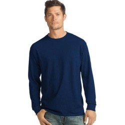 Hanes ComfortSoft Men's Long-Sleeve T-Shirt 4-Pack - Color - Navy - Size - XL, Blue found on Bargain Bro India from Overstock for $28.84