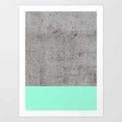 Art Print | Sea On Concrete by Cafelab - X-Small - Society6 found on Bargain Bro India from Society6 for $19.19