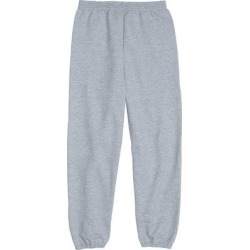 Hanes P450 EcoSmart Youth Fleece Pant in Light Steel size Medium found on Bargain Bro from ShirtSpace for USD $9.43