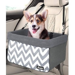 Jespet Pet Car Seats Wave - Gray & White Zig-Zag Dog Booster Car Seat found on Bargain Bro from zulily.com for USD $26.58