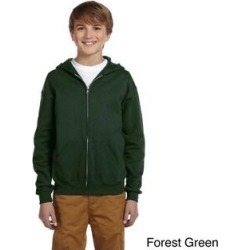Youth 50/50 NuBlend Fleece Full-Zip Jacket (M,forest green), Boy's found on Bargain Bro India from Overstock for $35.49