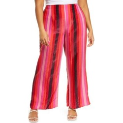 Freya Pink Strip Trousers - Pink - Never Fully Dressed Pants found on MODAPINS from lyst.com for USD $104.00