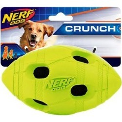 Nerf Dog Crunch Bash Football Dog Toy, 5.4-in