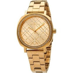 Nia Quartz Gold-tone Crystal Dial Ladies Watch - Metallic - Michael Kors Watches found on Bargain Bro India from lyst.com for $100.00