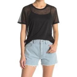 Orion Mesh Wool Blend T-shirt - Black - John Elliott Tops found on MODAPINS from lyst.com for USD $60.00