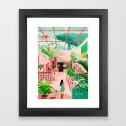 Framed Art Print | Paradise by Tracy J Lee - Vector Black - X-Small-10x12 - Society6 found on Bargain Bro India from Society6 for $35.99