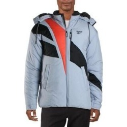 Reebok Mens Athletic Jacket Fitness Workout - Purple/Orange/Black (S), Men's(nylon) found on Bargain Bro India from Overstock for $99.94