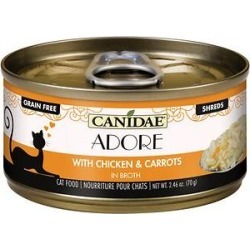 CANIDAE Adore Grain-Free Chicken & Carrots in Broth Canned Cat Food, 2.46-oz, case of 24