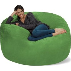 Bean Bag Chair 5-foot Memory Foam Removable Cover Bean Bags found on Bargain Bro from Overstock for USD $227.08