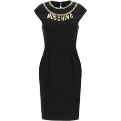 Logo Chain Neckline Dress - Black - Moschino Dresses found on Bargain Bro Philippines from lyst.com for $839.00