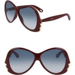 Aviator 59mm Sunglasses - Blue - Chloé Sunglasses found on Bargain Bro India from lyst.com for $80.00