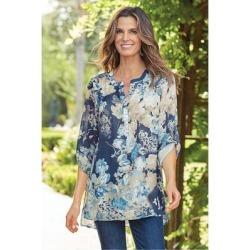 Women's Danica Shirt by Soft Surroundings, in Navy size XS (2-4)