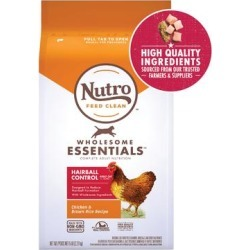 Nutro Wholesome Essentials Natural Hairball Control Chicken & Brown Rice Recipe Adult Dry Cat Food, 5 lbs.