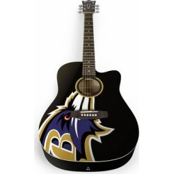 Baltimore Ravens Woodrow Acoustic Guitar found on Bargain Bro Philippines from Fanatics for $399.99
