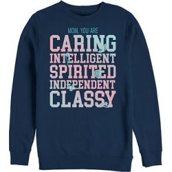 Fifth Sun Men's Sweatshirts and Hoodies NAVY - Disney Princess Navy 'Caring, Intelligent, Spirited, Classy' Pullover - Men found on Bargain Bro from zulily.com for USD $21.27