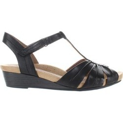 Rockport Women's Sandals Black - Black Hollywood Pleat Leather Sandal - Women found on Bargain Bro India from zulily.com for $34.99