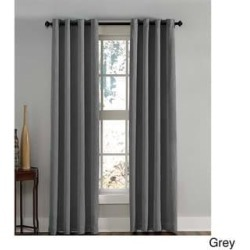 Lenox Crushed Textured Room Darkening Grommet Panel (50 x 63 - Grey), Gray(Polyester, Solid) found on Bargain Bro Philippines from Overstock for $19.99
