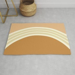 One Day - earthen Clay Layers 2 Modern Throw Rug by Urban Wild Studio Supply - 2' x 3' found on Bargain Bro from Society6 for USD $27.93