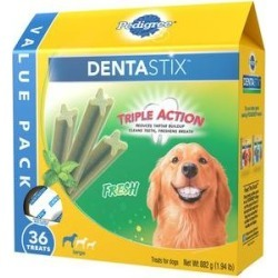 Pedigree Dentastix Fresh Mint Flavored Large Dental Dog Treats, 36 count