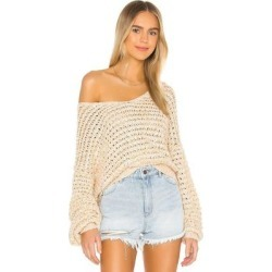 Coconut V Neck Sweater - Natural - Free People Knitwear found on Bargain Bro India from lyst.com for $128.00