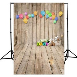 Photography Backdrop Studio Photo Prop 5' x 7' Balloon Baby - 5' x 7' found on Bargain Bro Philippines from Overstock for $48.49
