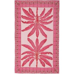 Lotty B Sarong In Silk Crepe-de-chine: Banana Tree - Pink - Pink House Mustique Dresses found on Bargain Bro from lyst.com for USD $313.12