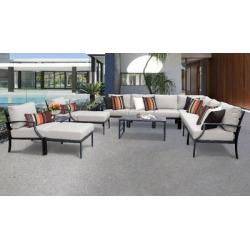 Lexington 13 Piece Outdoor Aluminum Patio Furniture Set 13a in Ash - TK Classics Lexington-13A-Ash